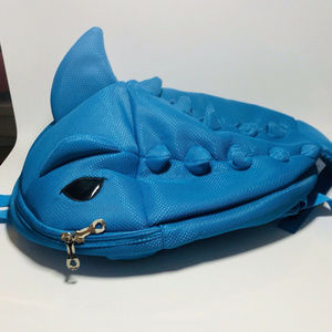 Dolphin Shark Blue Backpack With Fin.